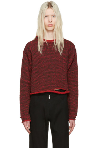 Eckhaus Latta - Red Wiggly Road Sweater