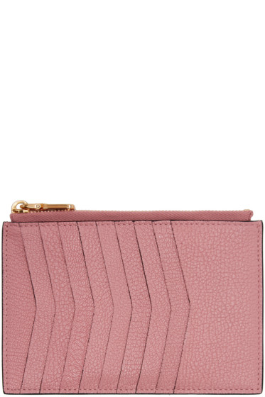 Miu Miu - Pink Heart Multi Card Zip Pouch