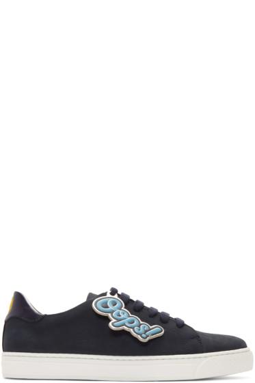 Anya Hindmarch - Indigo Wink & 'Oops' Tennis Sneakers