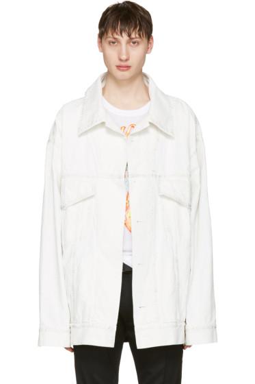 Faith Connexion - White Oversized Denim Jacket