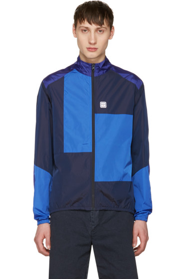 Noah NYC - Navy Patchwork Track Jacket
