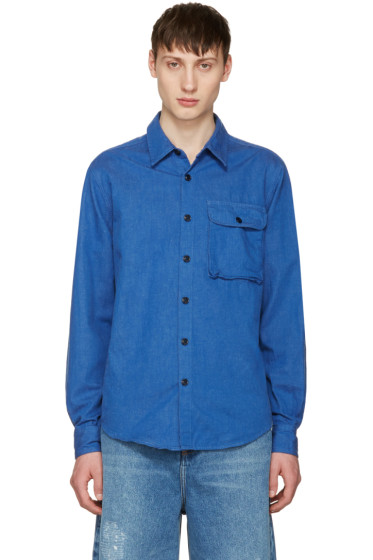 Noah NYC - Blue Denim Utility Shirt