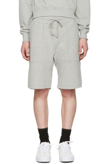 Noah NYC - Grey Solid Lounge Shorts
