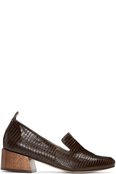 Mari Giudicelli  - Brown Lizard Gaeva Loafers