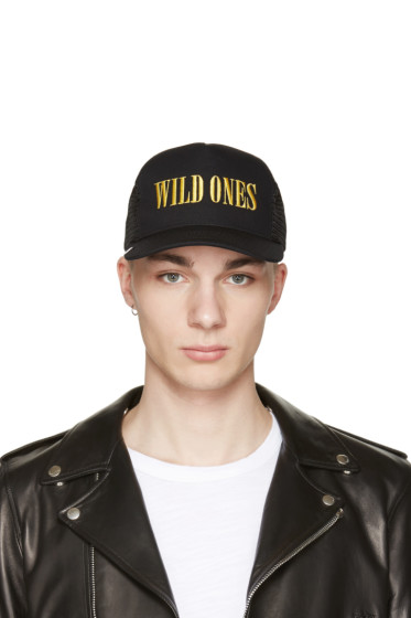 Amiri - Black 'Wild Ones' Trucker Cap