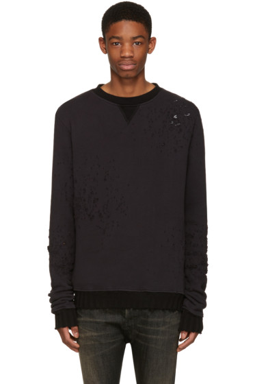 Amiri - Black Shotgun Destroyed Pullover