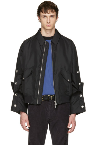 Y/Project - Black Cufflink Sleeves Jacket