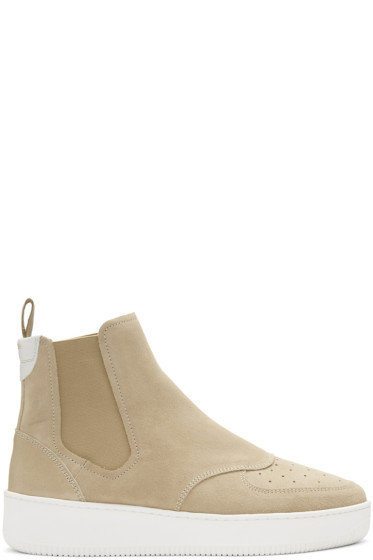 Aime Leon Dore - Beige Chelsea High-Top Sneakers