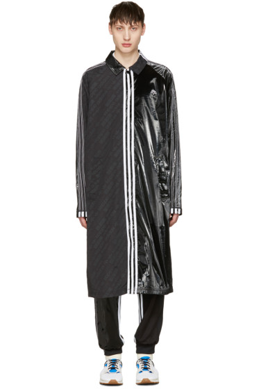 adidas Originals by Alexander Wang - ブラック パッチ コート