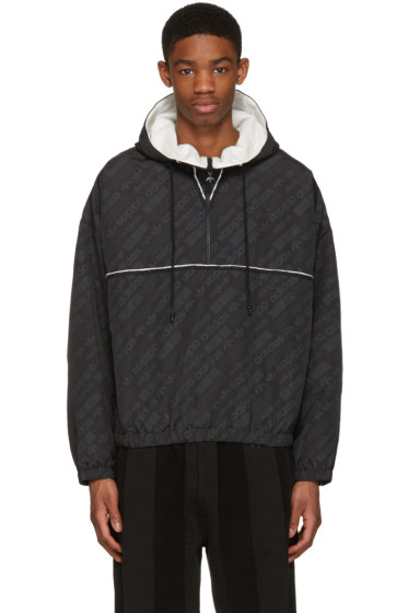 adidas Originals by Alexander Wang - Black Windbreaker Jacket