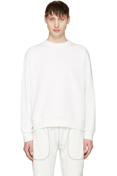 adidas Originals by Alexander Wang - White Logo Crew Sweatshirt