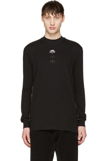 adidas Originals by Alexander Wang - Black Long Sleeve Logo T-Shirt
