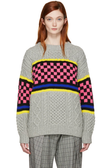 Ashley Williams - Multicolor Oversized Cable Knit Sweater