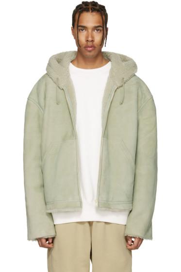 YEEZY - Green Short Shearling Jacket