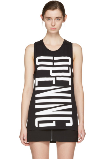 Opening Ceremony - Black Stretch Logo Tank Top