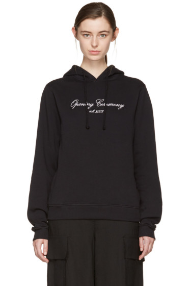 Opening Ceremony - SSENSE Exclusive Black Original Script Hoodie