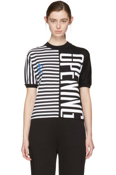 Opening Ceremony - Black Striped Stretch Logo T-Shirt