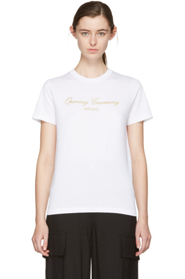 Opening Ceremony - White Original Script T-Shirt