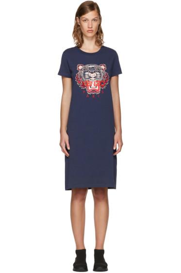 Kenzo - Navy Tiger T-Shirt Dress