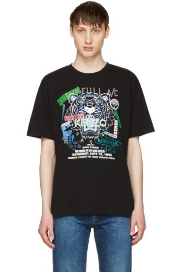 Kenzo - Black 'Tiger x Flyer' T-Shirt