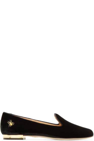 Charlotte Olympia - Black Velvet Nocturnal Loafers