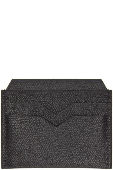 Valextra - Black 4CC Card Holder