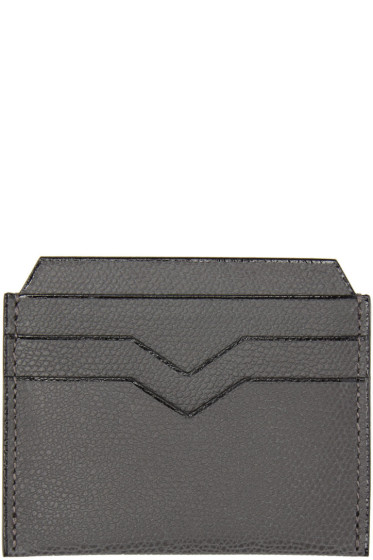 Valextra - Grey 4CC Card Holder