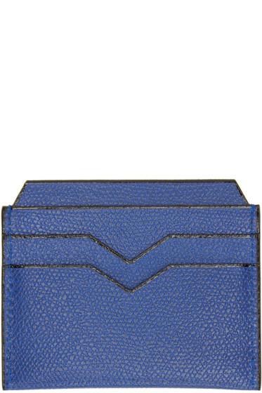 Valextra - Blue 4CC Card Holder