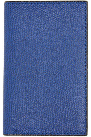 Valextra - Blue Business Card Holder