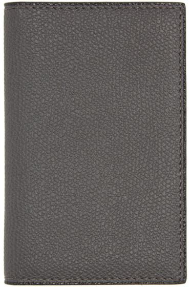 Valextra - Grey Business Card Holder