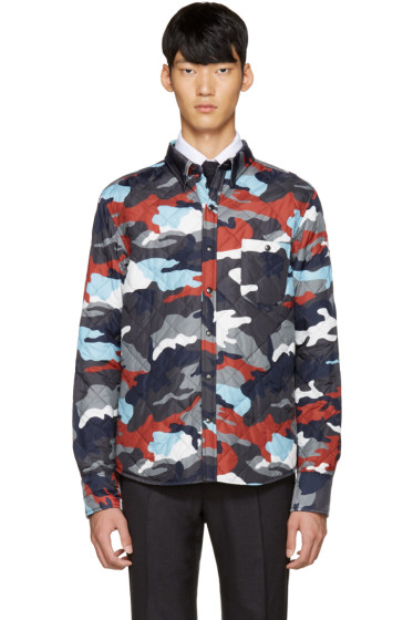 Moncler Gamme Bleu - Multicolor Quilted Camo Jacket