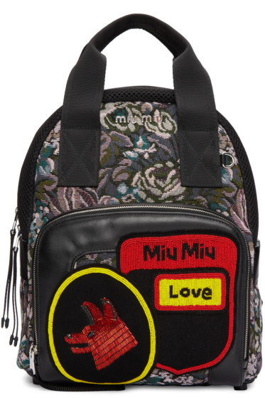 Miu Miu - Multicolor Tapestry Backpack