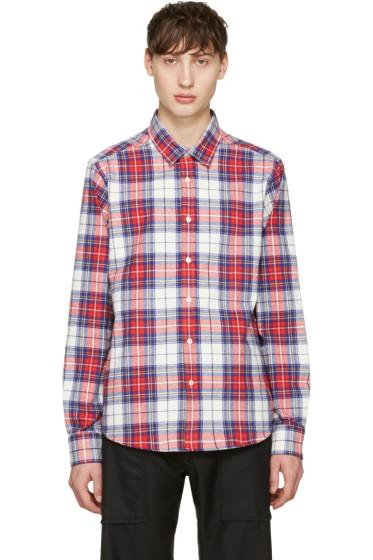 Noah NYC - Red Plaid Pocketed Shirt