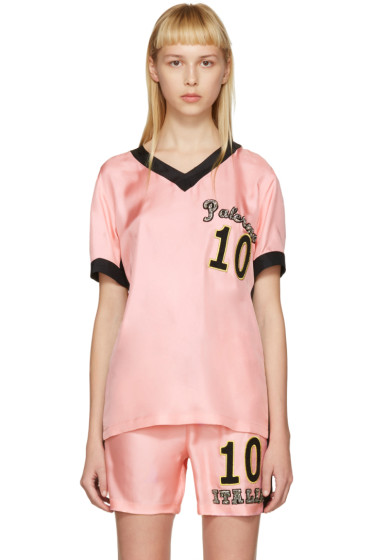 Dolce & Gabbana - Pink Embroidered Pyjama T-Shirt