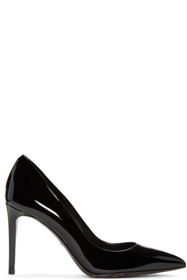 Dolce & Gabbana - Black Patent Leather Kate Heels