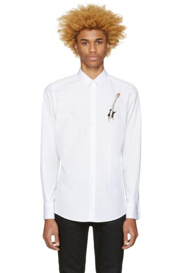 Dolce & Gabbana - White Embroidered Guitar Shirt