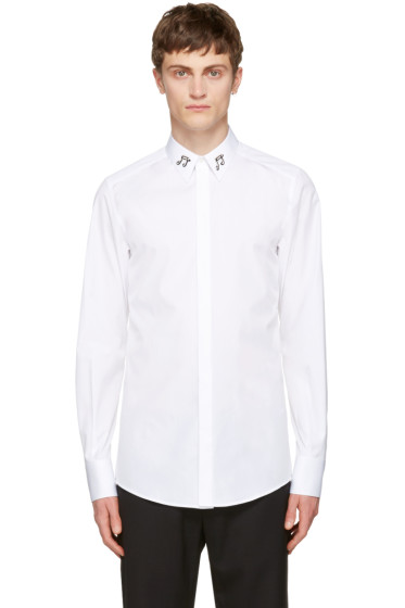 Dolce & Gabbana - White Music Notes Shirt