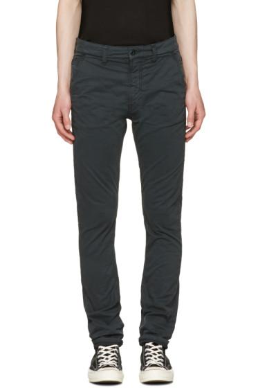 Nudie Jeans - Black Slim Adam Trousers