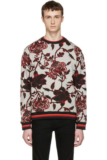 McQ Alexander McQueen - Grey Floral Pullover