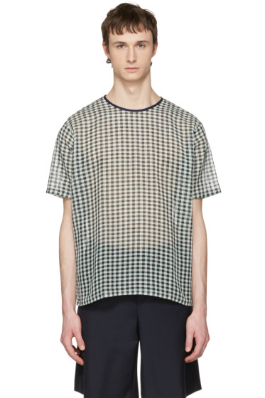 Acne Studios - Green Redwood B Check T-Shirt