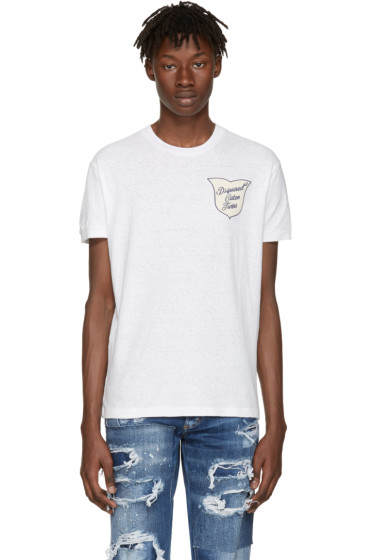 Dsquared2 - White 'Caten Twins' Patch T-Shirt