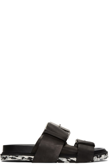 Maison Margiela - Black Buckles Sandals