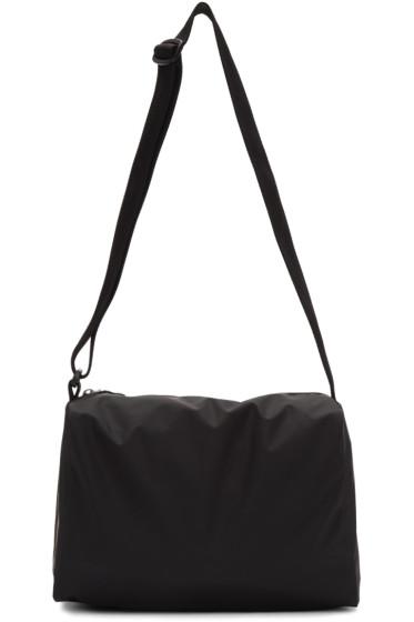 MM6 Maison Margiela - Black Rubber Duffle Bag