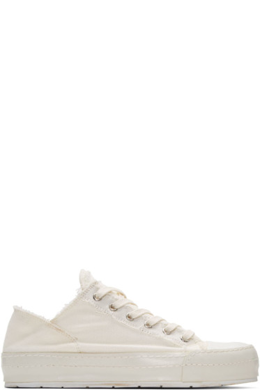 MM6 Maison Margiela - Off-White Canvas Sneakers