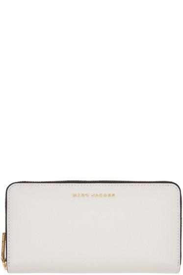Marc Jacobs - Grey & Navy Standard Continental Wallet