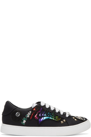 Marc Jacobs - Black Embroidered Empire Sneakers