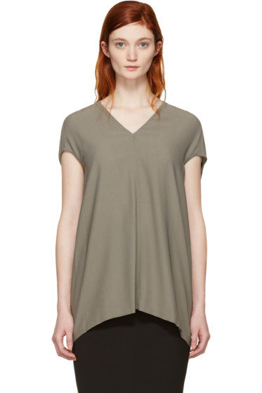 Rick Owens - Grey Floating Blouse