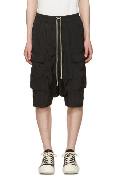 Rick Owens - Black Pod Cargo Shorts