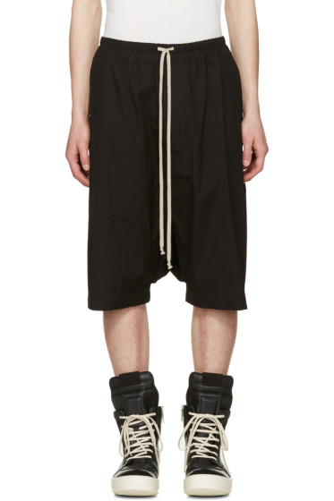 Rick Owens - Black Ricks Pods Shorts