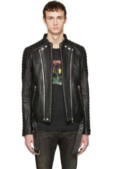 Balmain - Black Biker Jacket